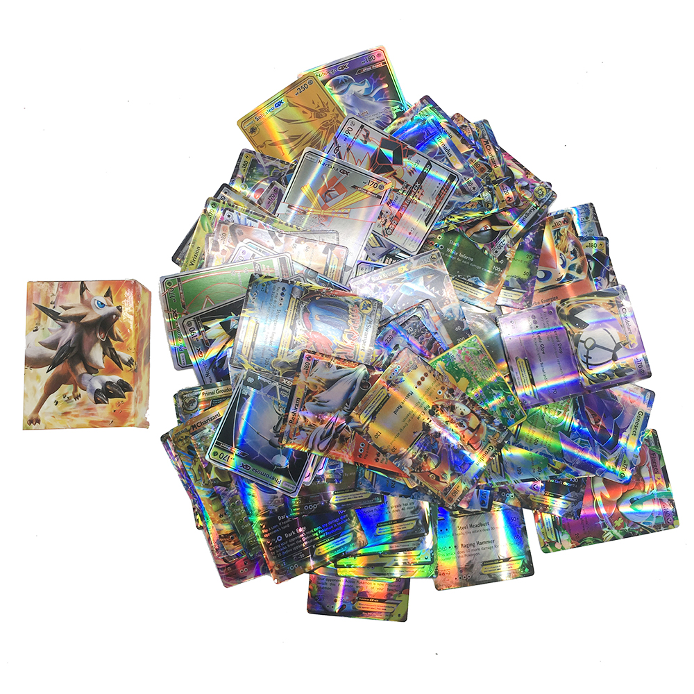 Takara Tomy Pokemon 100PCS GX EX  Flash Card   Sword Shield Sun Moon Card Collections Christmas Gifts Kids Toy