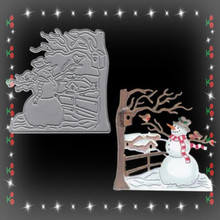 Christmas embossing mold carbon steel snowman Christmas metal cutting mold scrapbook embossing mold birthday gift making(China)