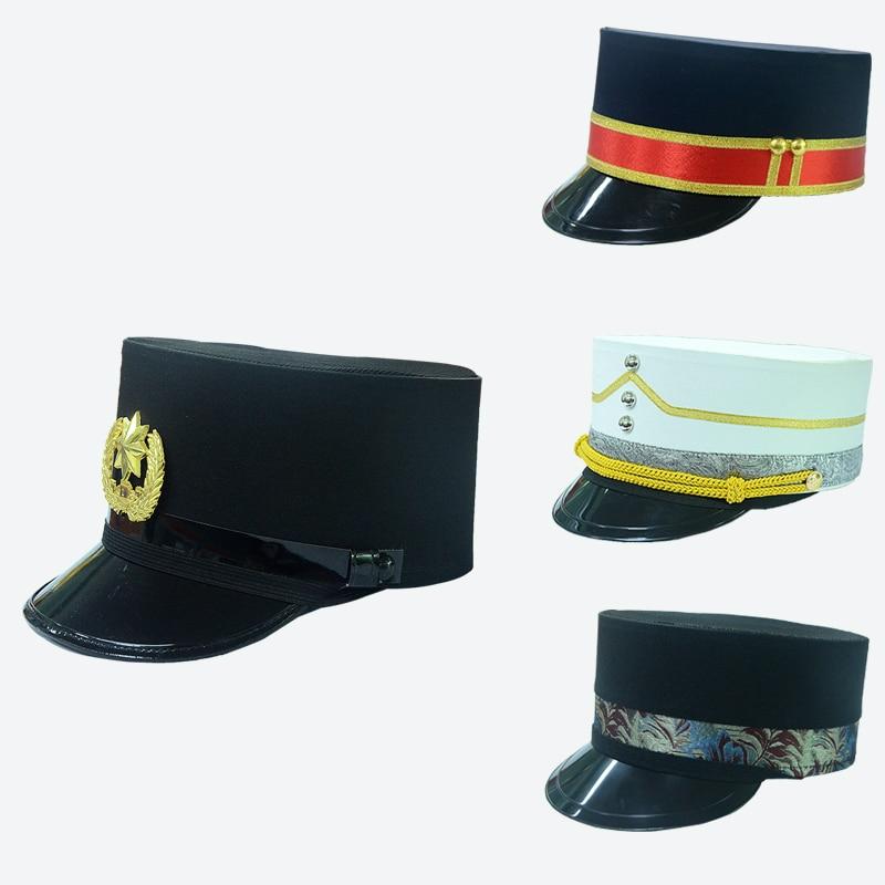 High Grade Hotel Dome Hat Ceremonial Hat Security Door Boy Lace Caps Uniform Cap