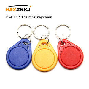 IC-UID 13.56mhz repeated erase keychain elevator induction smart buckle community gate security access card smart nfc tags(China)
