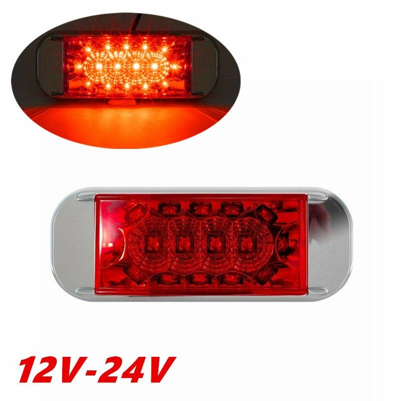 1PCS 12-24V Truck Lights  Trailer LED Side Marker Trailer Lights LED Lamp Truck Car Trailer Light Marker Lights For Trucks