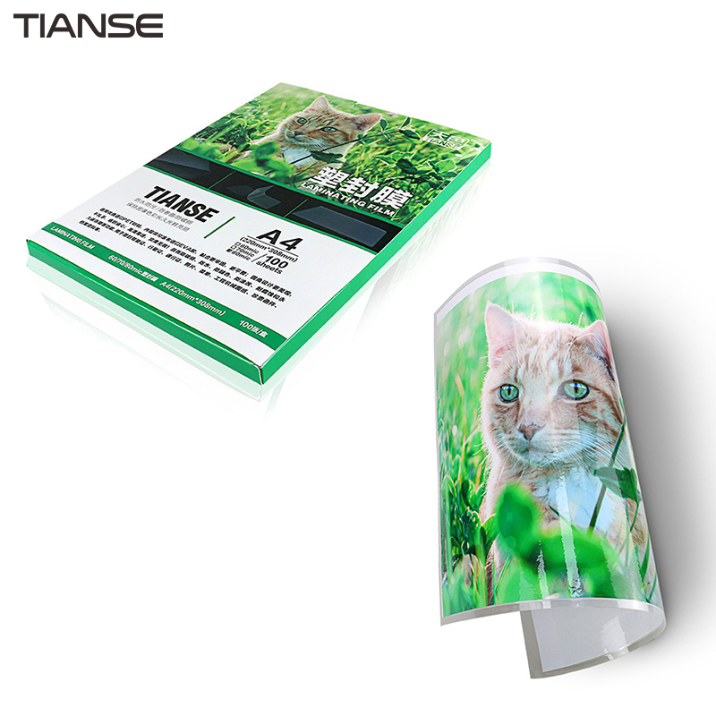 TIANSE Thickened Plastic Film A4 6C Photo Menu Plastic Film Protective Card Film For Plastic Sealing Machine Gummed Paper