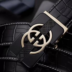 Image 3 - Cinto masculino marca de luxo designer de couro dos homens correia de couro genuíno fivela automática #19509 12 p