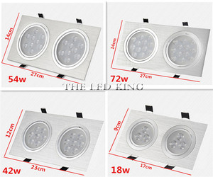 Image 5 - Dimmable LED Downlights 18W30W AC85 265V Square silver Black LED Ceiling Lamp Down Light for Kitchen Home Office Indoor Lighting