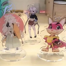 FANGQINGMAO Photo Printed Transparent Clear Custom Acrylic Stand Cartoon Anime Hologram Standee for Animation Display