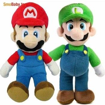 2PCS Super Mario Bros Plush Doll Mario Luigi Toy Soft Stuffed Animal Dolls Toys Kids Children Birthday Christmas Gift недорого