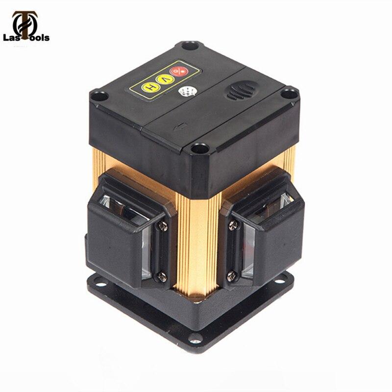WeiLian 3D12Lines Nível Laser com BATERIA de controle Remoto da liga de Alumínio & Linha de Laser Horizontal & Linhas Verticais Trabalhar Separadamente