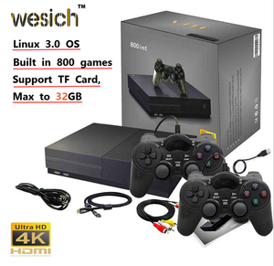 WESICH 64Bit Retro Game Console Support 4K HDMI TV Output Built in 800 Classic Games TV Video Game Player For PS1/CPS/GBC/SMS/GB