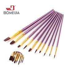 Art-Supplies Paint-Brush Watercolor Wooden-Handle Nylon-Hair Acrylic Artist Professional