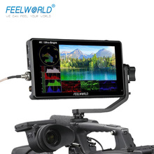 FEELWORLD LUT6S LUT6 6 Inch 2600nits 3D LUT HDR Touch Screen DSLR Camera Field Monitor  3G SDI 4K with Waveform VectorScope