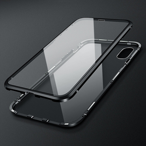 Image 4 - Luxury Case For Apple iPhone XS MAX XS X XR 7 8 Plus 360 Full Protection Case Magnetic Tempered Glass Aluminum Metal Case Cover