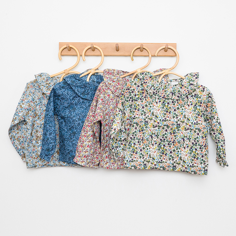 Newborn Girls Blouse Floral Print Clothes Baby Girls Baby Long Sleeve Spring Autumn Floral Printed Baby Kids Outfits Clothing