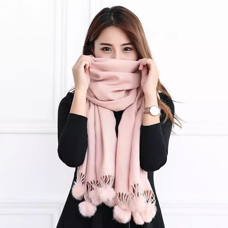 Модные осенне зимние теплые кашемировые шарфы с узором в горошек, высокое качество, длинные кисточки, Женская уплотненная шаль, Женская шерстяная Пашмина|Женские шарфы|   | АлиЭкспресс