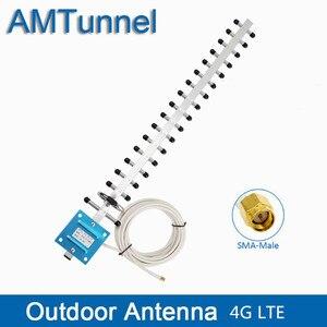 Image 1 - 4G אנטנת 4G WIFI LTE אנטנה חיצונית SMA זכר עם 5m או 10m כבל 20dBi WIFI כיוונית אנטנה עבור 4G LTE נתב מודם