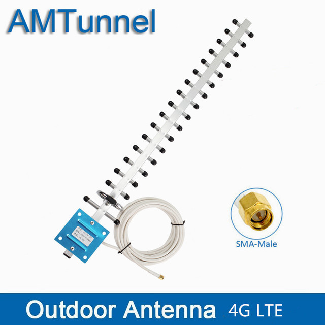 4G אנטנת 4G WIFI LTE אנטנה חיצונית SMA זכר עם 5m או 10m כבל 20dBi WIFI כיוונית אנטנה עבור 4G LTE נתב מודם