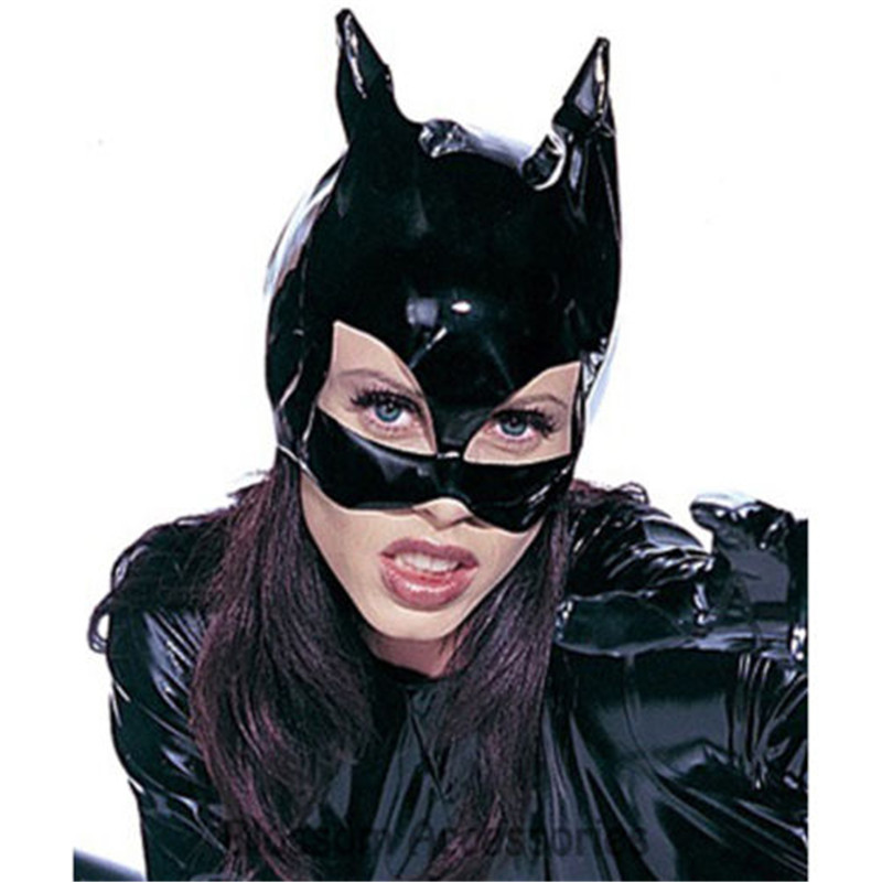 Nightclub <font><b>Catwoman</b></font> Black PVC <font><b>Catwoman</b></font> Leather Appearance Cover Halloween <font><b>Costume</b></font> <font><b>Sexy</b></font> Underwear image