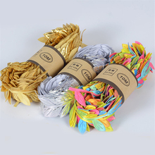 10 meters DIY Wedding Decoration Leaf-shaped Rattan Artificial Flower Wreath Craft Fake Golden