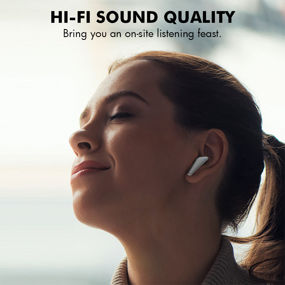 S15 Bluetooth 5.0 Wireless Headphones Earphones TWS Hifi Headset Bass Earbud with Power Display Touch Control Ear Detection 2