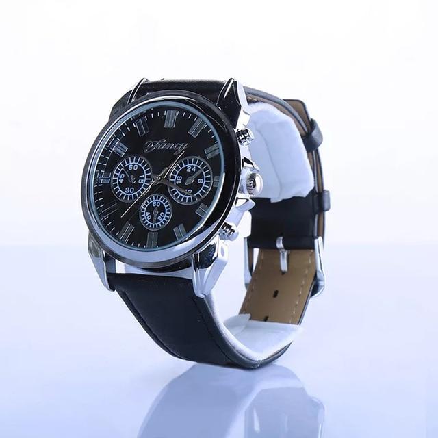 Fashion personality men's Wrist watch Clock belt wallet  2