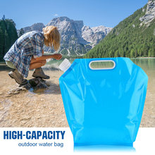 Saco de água exterior de alta capacidade 5/10l dobrável saco de água canister pe insípido selo de segurança leve saco de armazenamento de água potável