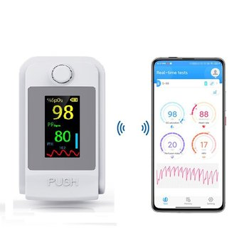 Fingertip Pulse Bluetooth Oximeter Portable Finger Pulse Oximeter Blood Oxygen Saturation Monitor OLED Heart Rate SpO2 PR PI bluetooth fingertip pulse oximeter oximetry blood oxygen saturation monitor oled pulsoksymetr spo2 pr heart rate monitor