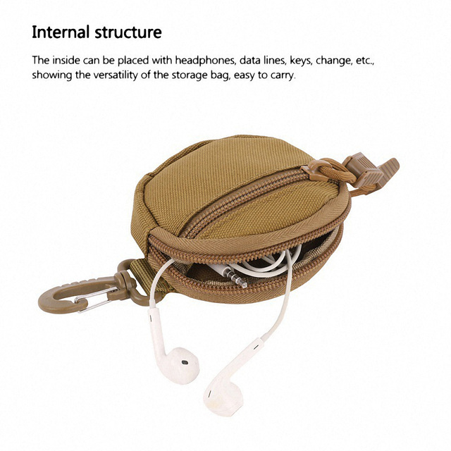 1000D Nylon Tactical Waist Bag Multifunction Camping Hiking Molle Pouch Military Purse Key Bag Mini Outdoor Hunting Accessories 5