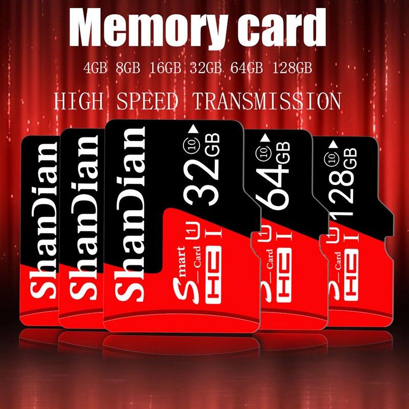 SHANDIAN Ultra Micro SD 128 ГБ 32 ГБ 64 ГБ 32 ГБ 16 ГБ 4 ГБ Micro SD карта SD/TF флэш-карта памяти 32 64 128 Гб microSD для телефона