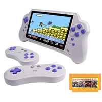 7 Inch Handheld Game Console with Game Card Support 4K HD HDMI TV Output/2 Player Game for FC/GBA/NES/for Kids Gift