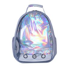 Holographic Breathable Astronaut Pet Cat Dog Puppy Carrier Outdoor Travel Bag Space Capsule Backpack 517D