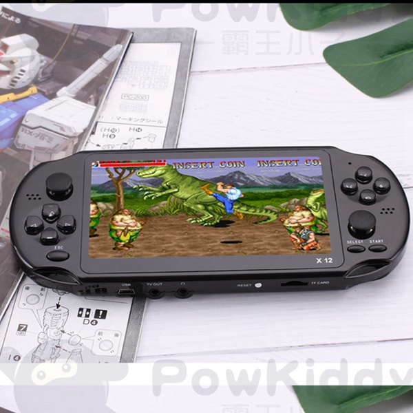 Powkiddy 5.1 Inch 8G Retro Game Console HD Screen Dual Joystick Handheld Game Player Family TV Retro Video Consoles Built-In 128