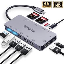 OneAudio 7/11 1 USB HUB C HUB çok USB 2.0 3.0 4K HDMI adaptörü MacBook için Dock pro aksesuarları USB C tip C Splitter