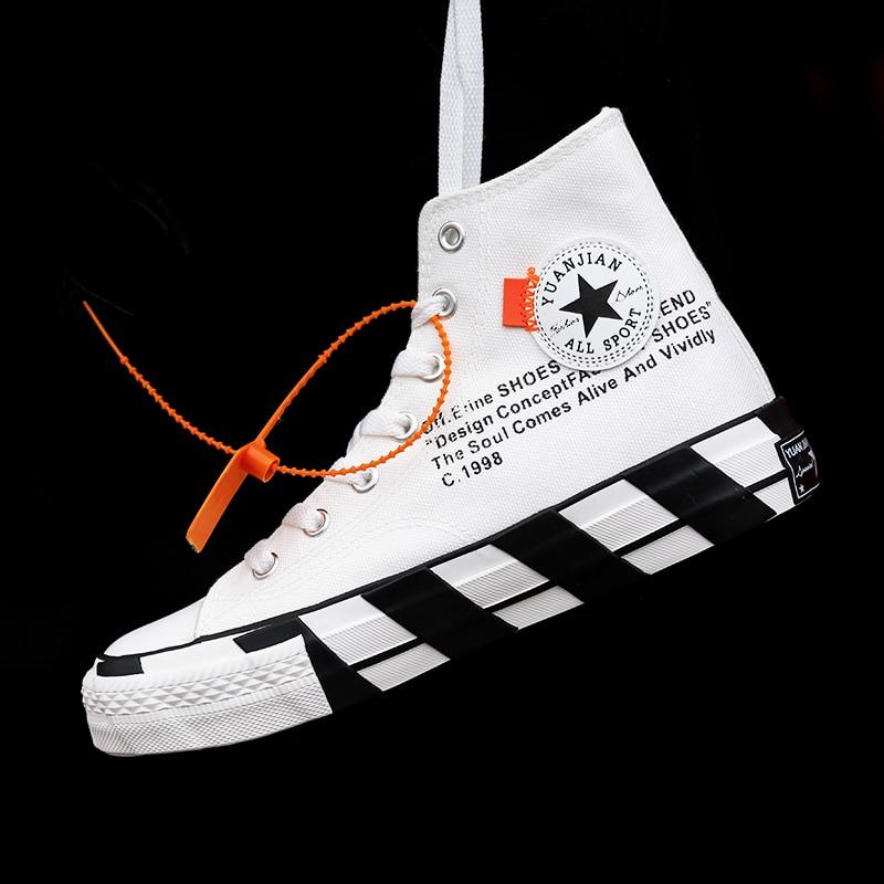 Fashion Women Sneakers Casual Shoes Flats White Black High Cut Canvas Shoes Men Espadrille Skateboard Men Casual Shoes