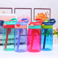 New Fashion 480ML Creative Cartoon Baby Kids Feeding Cups with Straws Cups Leakproof Water Bottles Outdoor Portable Kids Cups
