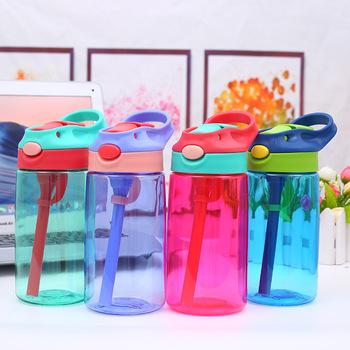 Nowe mody 480ML kreatywny Cartoon Baby Kids karmienie kubki ze słomkami kubki szczelne butelki na wodę odkryty przenośne kubki dla dzieci tanie i dobre opinie Other Stałe