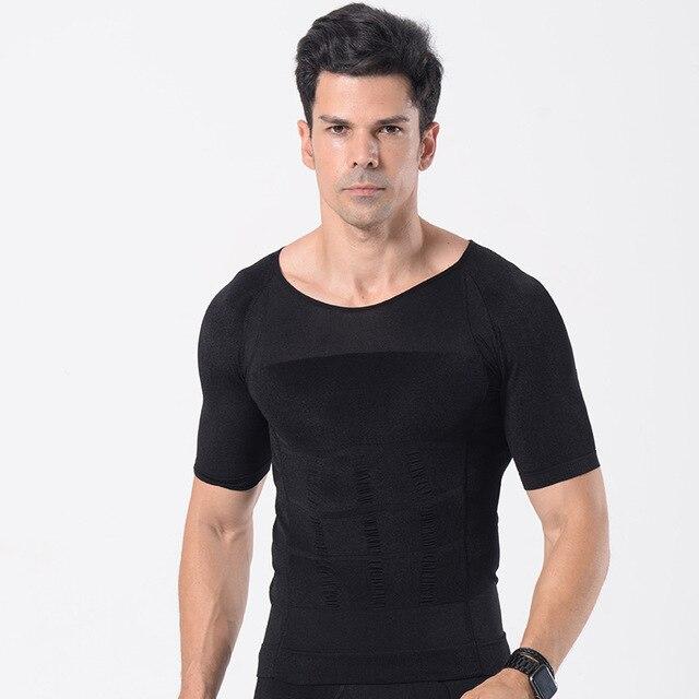 MenSlimming Boobs  Gynecomastia Vest Body Shaper Control Belly Tummy Trimmer T-shirt Sleeveless Back Support Underwear Shapewear 3