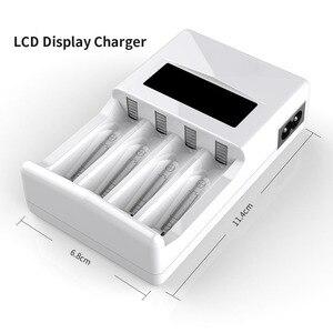 Image 2 - PHOMAX – chargeur de batterie intelligent avec écran LCD à 4 fentes, protection contre les courts circuits, pour piles rechargeables AA/AAA NiCd NiMh