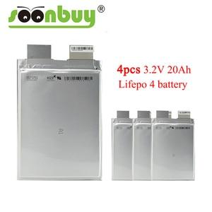 4 шт. 3,2 v 20ah lifepo4 20000mah батарея для электромобиля Батарея ups diy 12v батарея блок питания система хранения