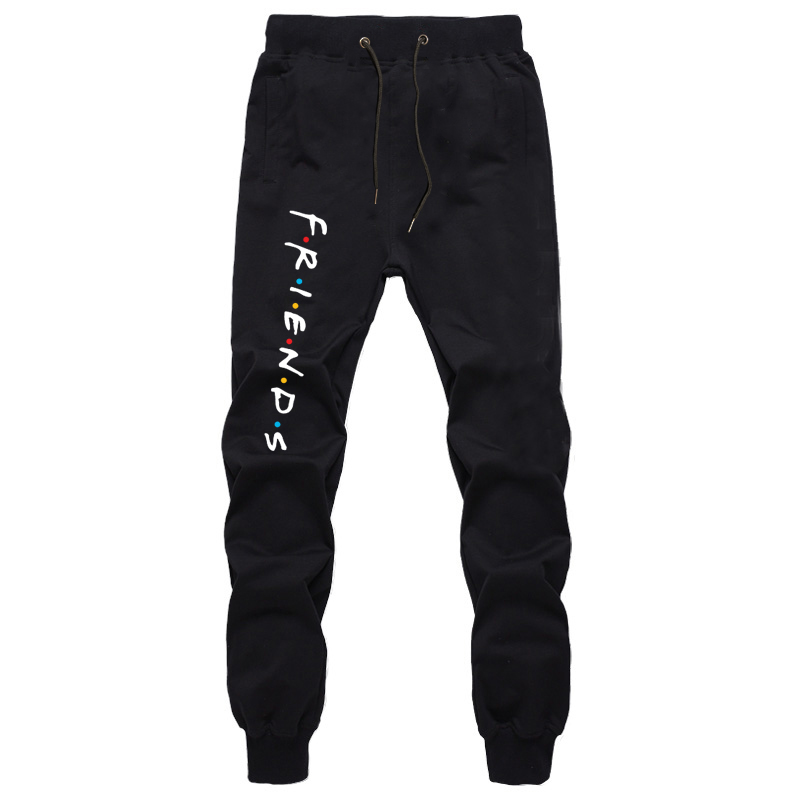 Men's Jogging Long Pants Fashion Casual Breathable Friends Mens Straight Pants Jogger Trousers