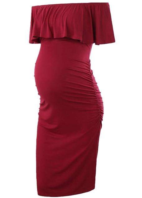 Off Shoulder  Women Maternity Dresses 6