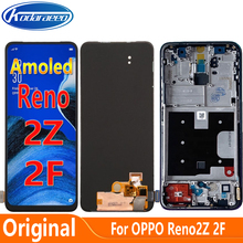 Amoled Display For Oppo Reno2 F CPH1989 LCD Display Screen Touch Digitizer With Frame For Reno 2Z Reno 2F LCD Glass Screen