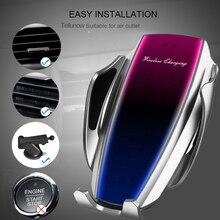 KSTUCNE 10W Qi cargador inalámbrico de coche para iPhone 2019 Samsung Note 10 inteligente infrarrojo carga inalámbrica rápida soporte de teléfono de coche