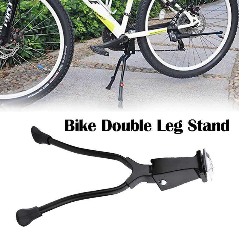 1X Double Leg Mount Stand Bike Kick Stand MTB Road Mountain Bicycle Tools Hot FI