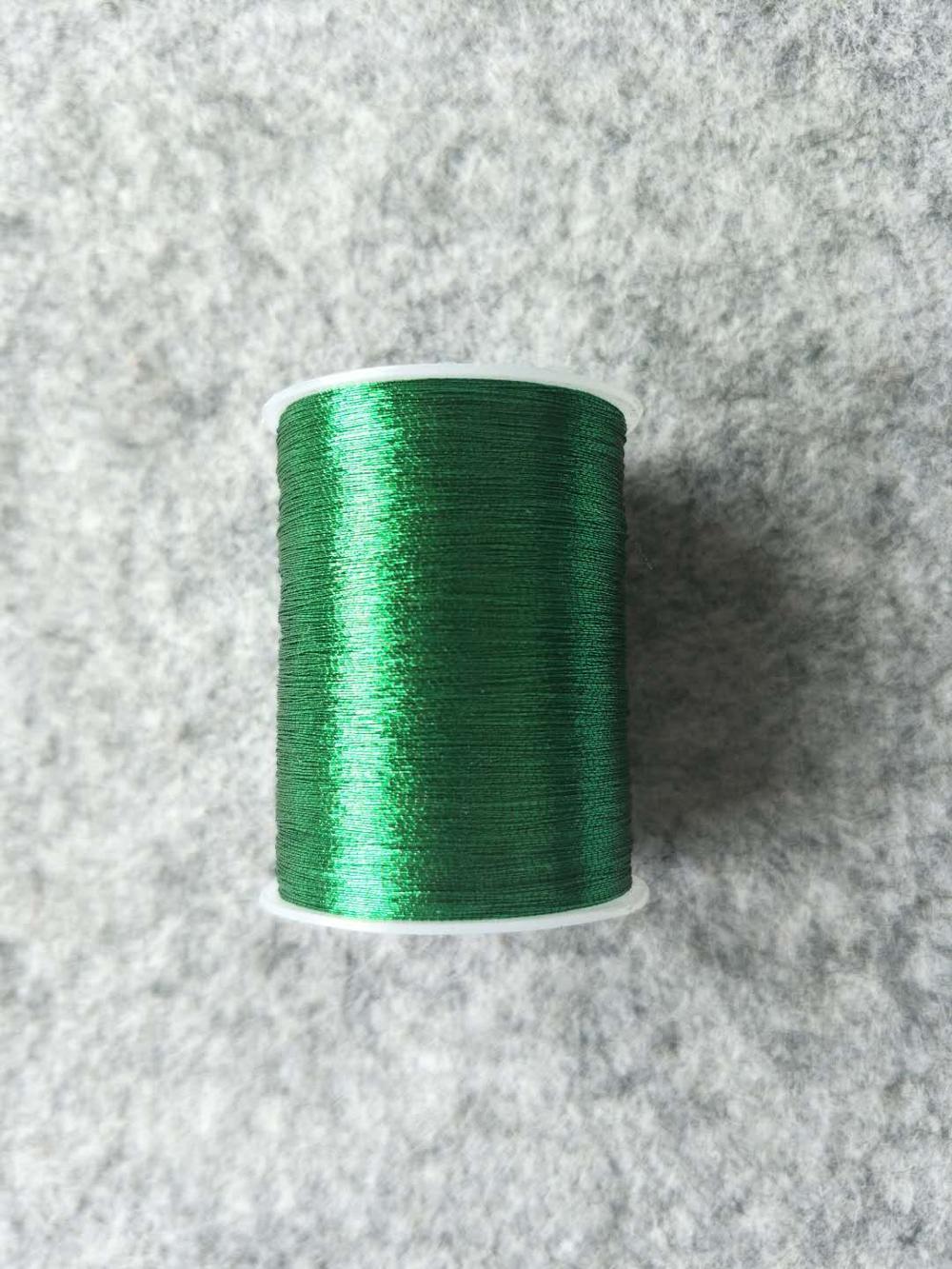 Металлическая нить для вышивки, аксессуары для одежды DIY, основные 15 видов цветов на выбор, нить для шитья, 1 шт - Цвет: green