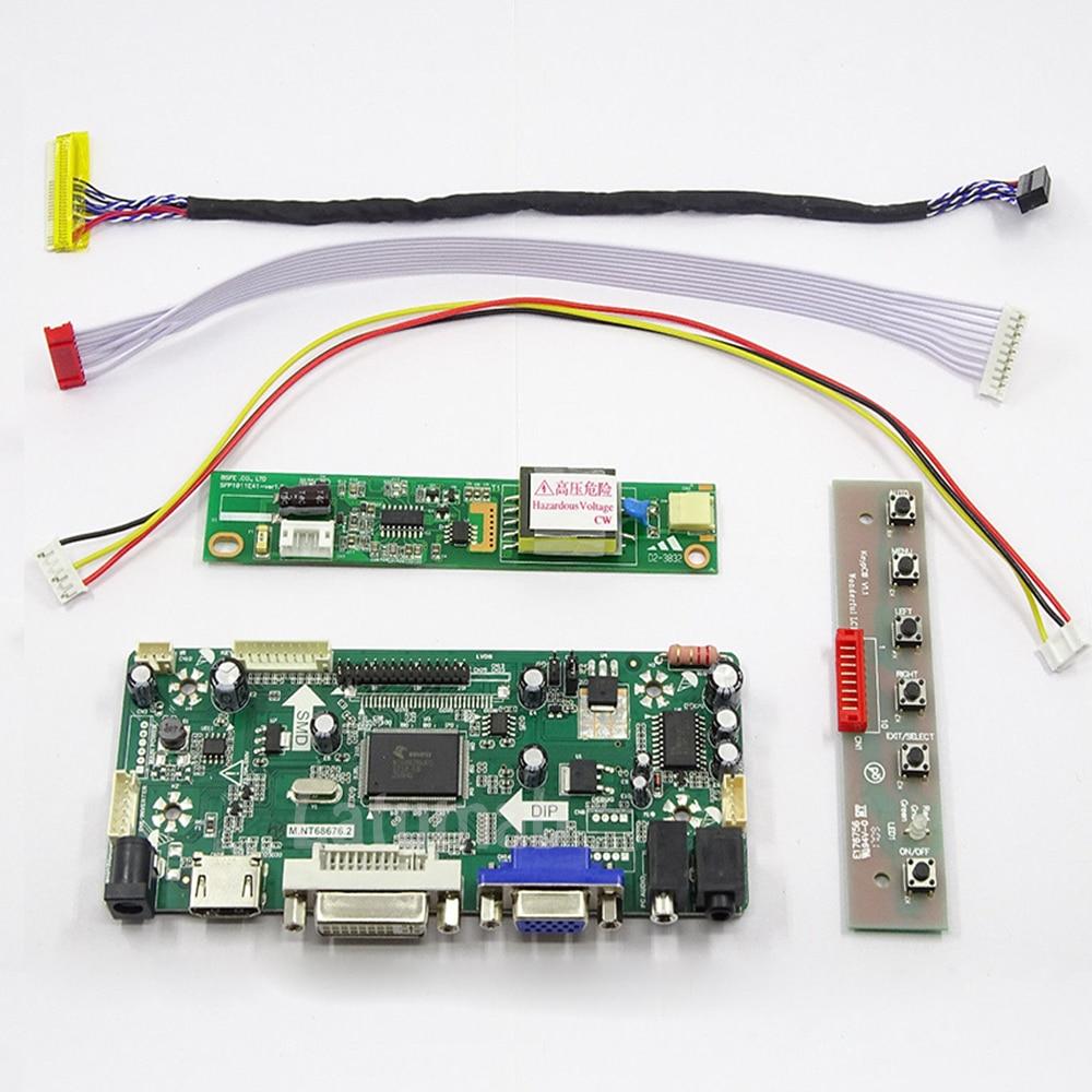 Latumab New Kit For B141EW04  ( HDMI+DVI+VGA ) LCD Screen Controller Board