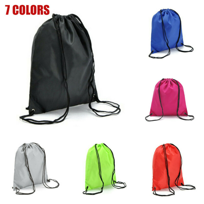Hot String Drawstring Back Pack Cinch Sack Gym Tote Bag School Sport Shoe Bag 2019 Outdoor Camping Cycling Storage Bag Wholesale