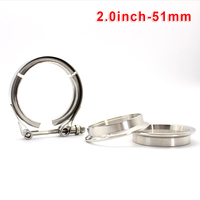 304 Stainless Steel V Band Pipe Flange Connection Universal Accessories|Exhaust  Assembly| |  -