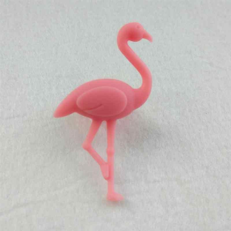 6 pçs flamingo encantos de vidro bonito reutilizável beber identificadores de vidro marcadores encantos para festas cocktail horas jantares