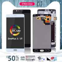 AMOLED Display Originale Per Oneplus 3T Display LCD Touch Screen con Telaio di Ricambio Per Oneplus 3 Display 3T LCD A3000 A3003