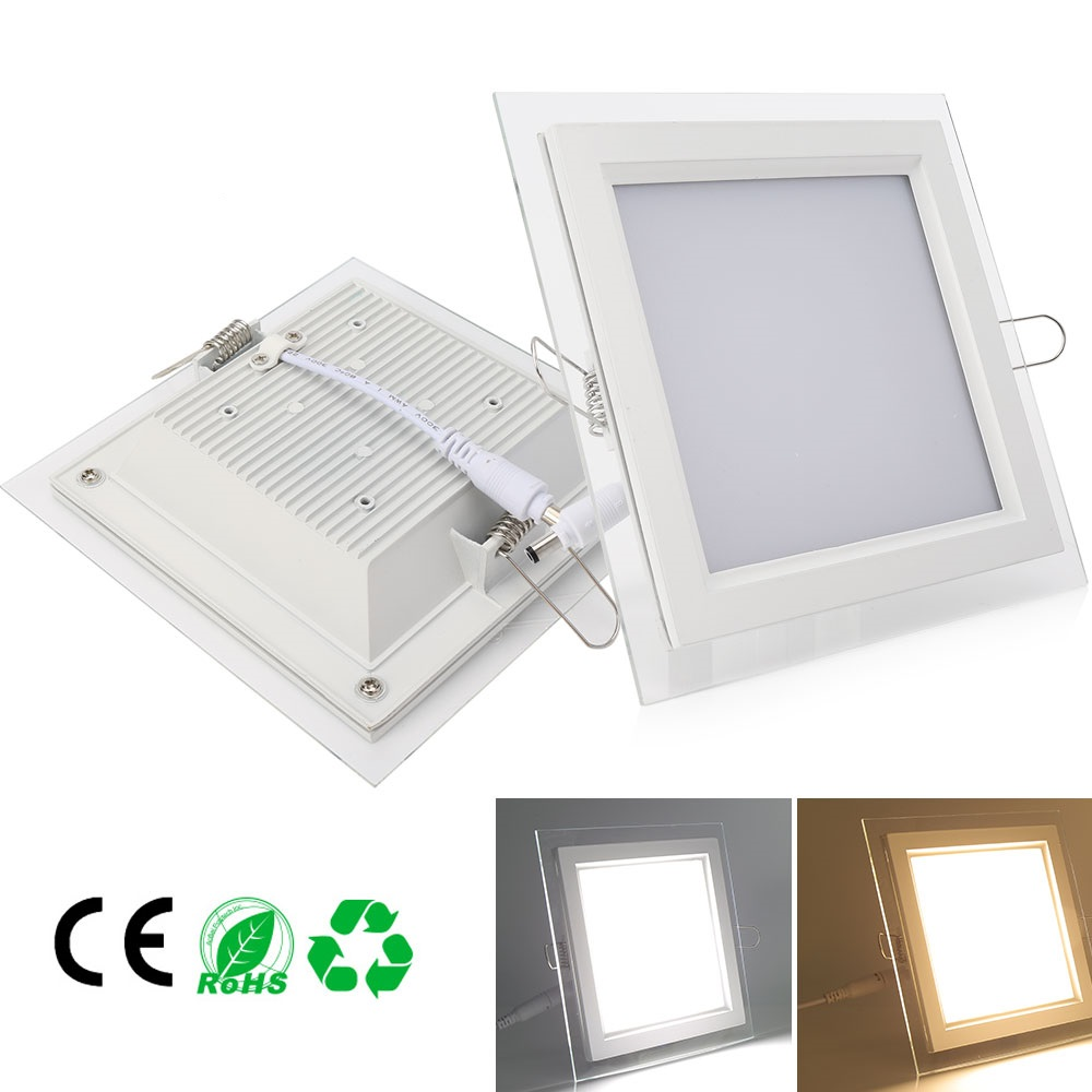 Square 9W / 15W / 18W Lámparas de techo LED Lámpara LED Downlight Lamparas Blanco / Blanco cálido Alto brillo para comedor interior