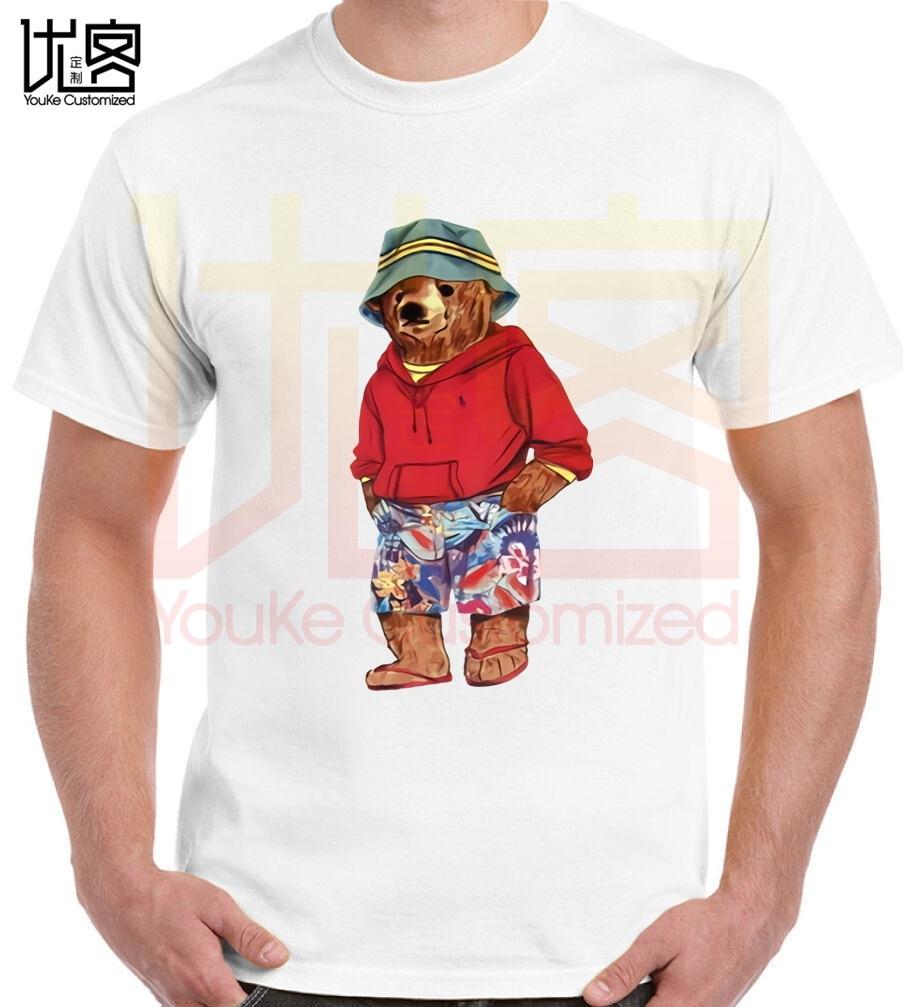 Mike L'orso Vita Una T-Shirt Bianco Casual Di Estate Manica Corta T-Shirt S-XXXL Manica Corta In Cotone T Cami